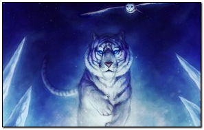 White Tiger And Owl Art