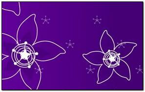Abstaktsiya Flowers Purple