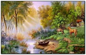 The Lake Painting