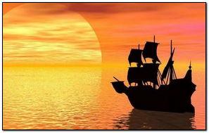 Sun And Ship