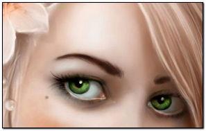 Girl Blonde Eyes Flower