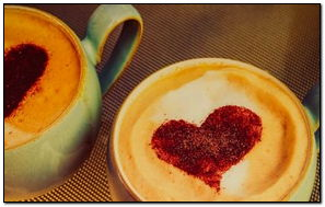 Two Coffee For Two Hearts-wallpaper-1024x768