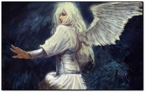 Fantasy Girl Angel Trong Áo trắng
