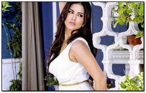 Sunny Leone White Dress