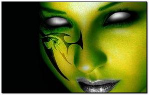 Green Gothic Art