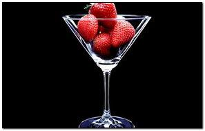 Strawberries In Glass