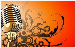 Microphone Music Yellow vector