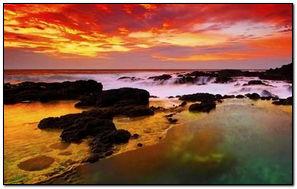 Zachód słońca kolory HD