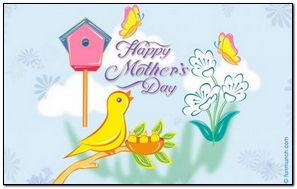 Happy Mothers Day Beautiful Cartoon