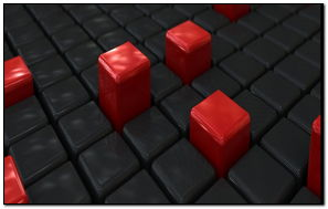 BLACK & RED CUBES