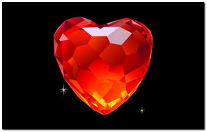 Diamant Red Heart - 922892