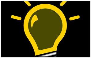 Желтая лампа