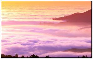 Foggy Hills-wallpaper
