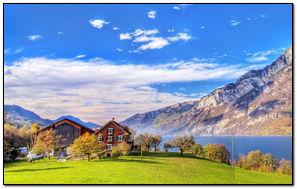 Lake In Switzerland-wallpaper