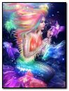 Fantasy Girl Mermaid With Magical Fishes