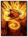 eagle and fire