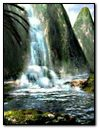 Nature Fantasy Waterfall & Mountains