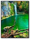 Nature Waterfall In Green Lake