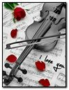 Violin I Love You with Rose