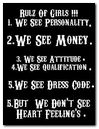 rules of girls