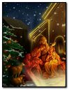 Christmas Birth Of Jesus with Tree