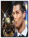 Cristiano Ronaldo avec sont ballon d'or