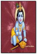 Red Background Krishna