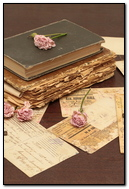 Vintage Books Old Flowers