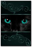 Black Cat. Green Eyes. 640х960