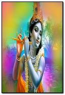 Colorful Background Of Krishna