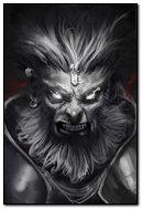 Hanuman Fierce Look