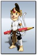 Hanuman Carried Pencil