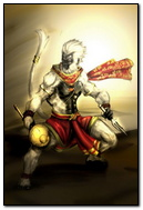 Fighting Hanuman