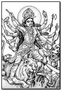 Durga Drawing