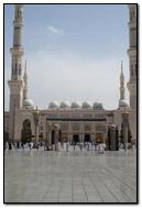 Masjid Al Nabawi In Madinah Saudi Arabia Front view