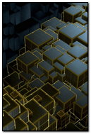 Black And Golden Cubes