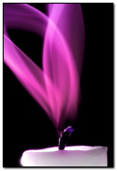 Candle Purple Smoke