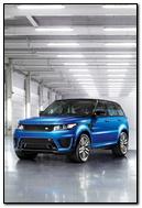 Blue Range Rover Sports Car