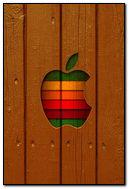Old Apple Logo & Wood