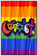 Coexist Rainbow Flag