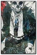 Smiling Skull In Suit