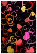Pink & Black Hearts