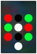 Red Green Black White