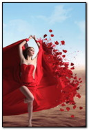 Red Dress With Roses