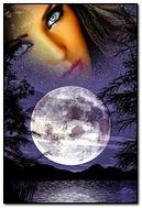 Full Moon And Girl