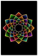 Abstract Geometric Flower
