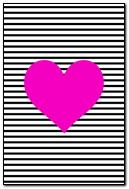 Stripe Heart Pink