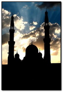 Sunset Background Mosque