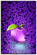 Purple Glass Apple