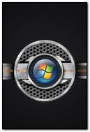 Windows 7 System Os Logo Steel Black 26297 720x1280